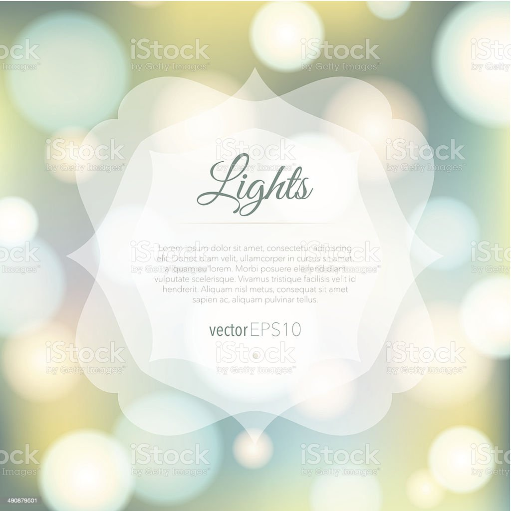 Magical background with colorful bokeh royalty-free stock vector art