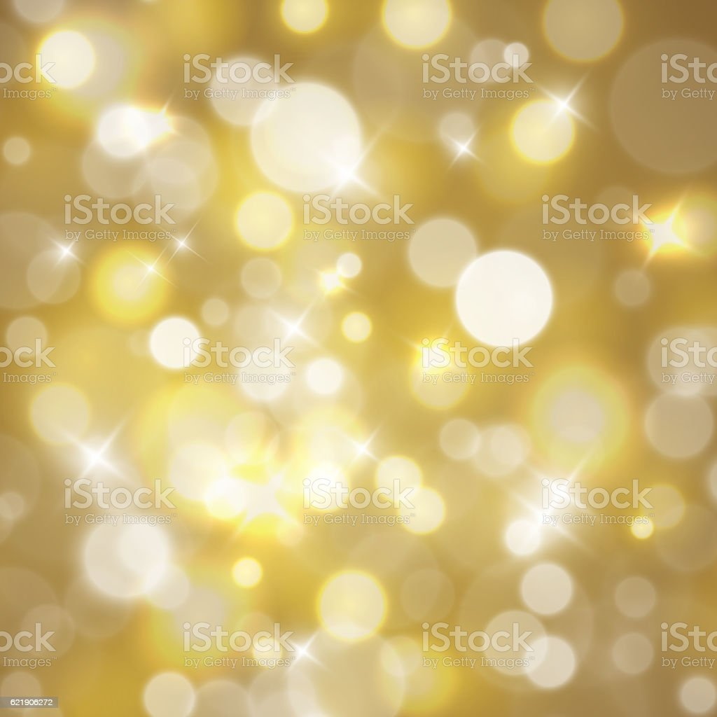 Magical background with night bokeh vector art illustration