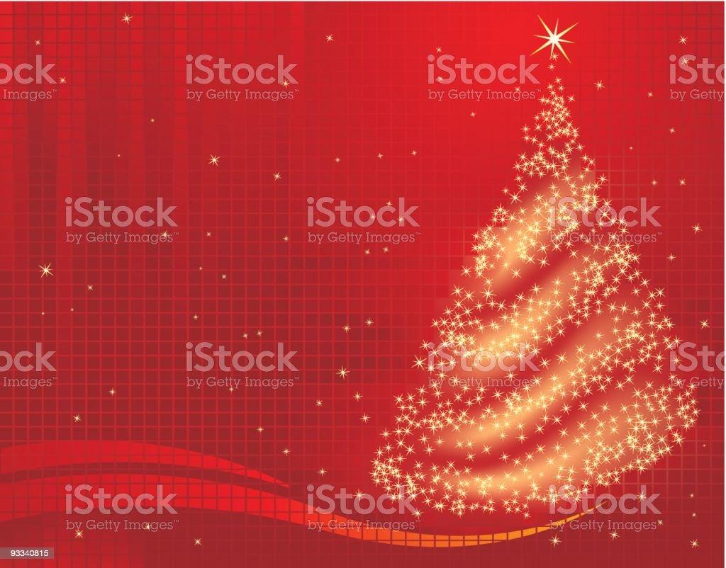 Arbre de Noël magique stock vecteur libres de droits libre de droits