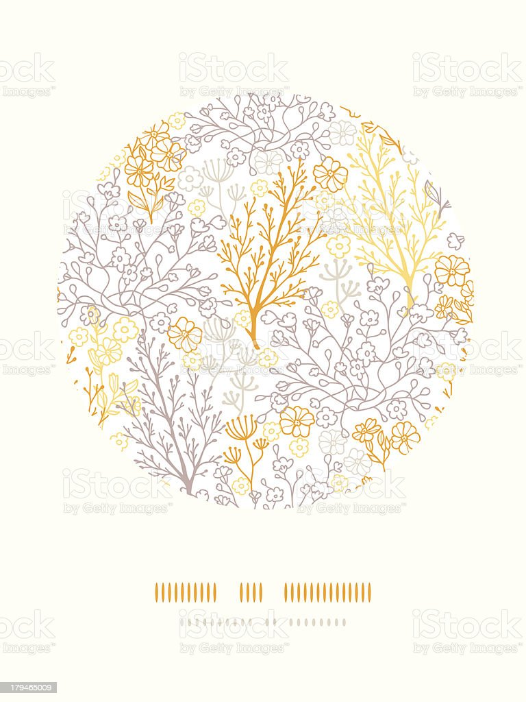 Magical floral circle decor pattern background royalty-free stock vector art