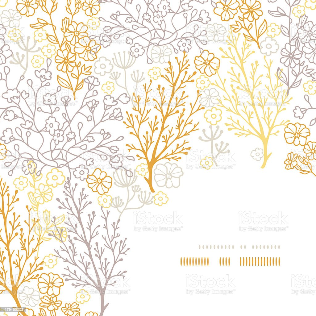 Magical floral corner frame pattern background royalty-free stock vector art