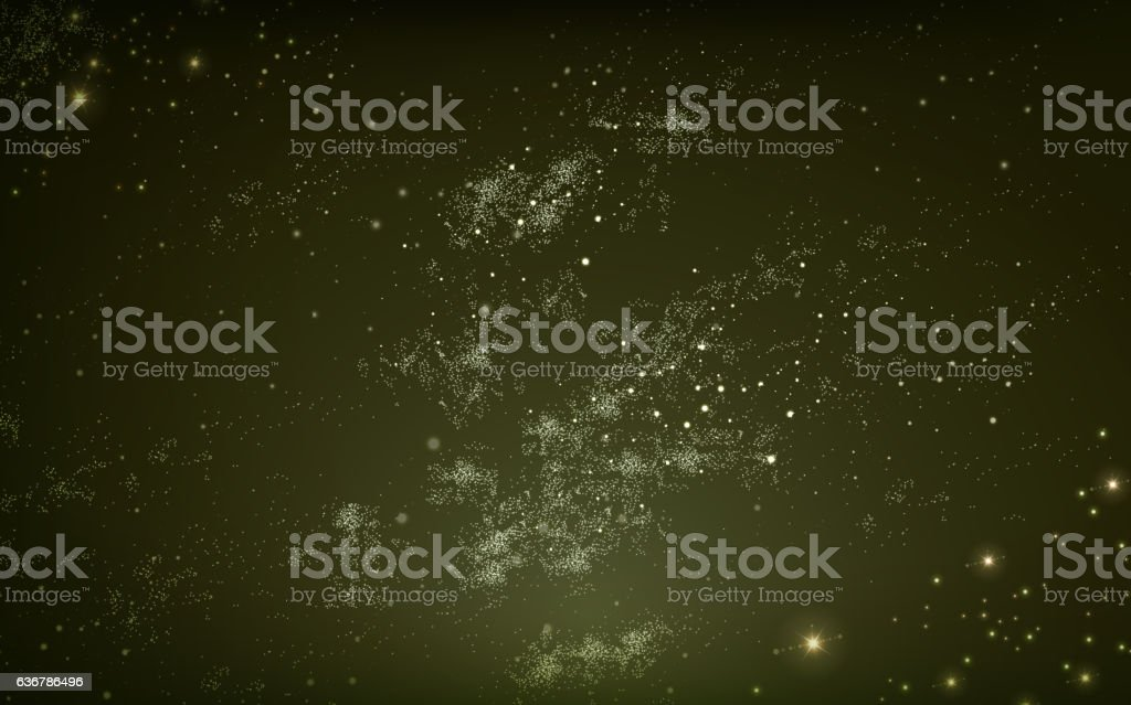 magical night sky background vector art illustration