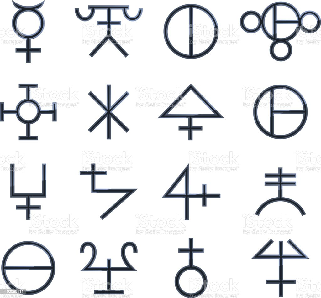 Magical Symbols Esoteric Magic Signs royalty-free stock vector art