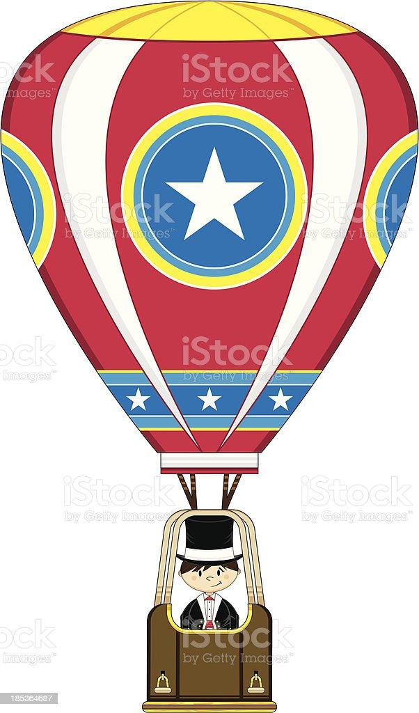 Magician in Hot Air Balloon royalty-free stock vector art