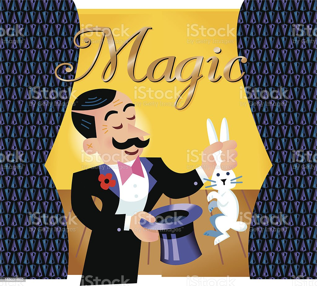 Magician royalty-free stock vector art