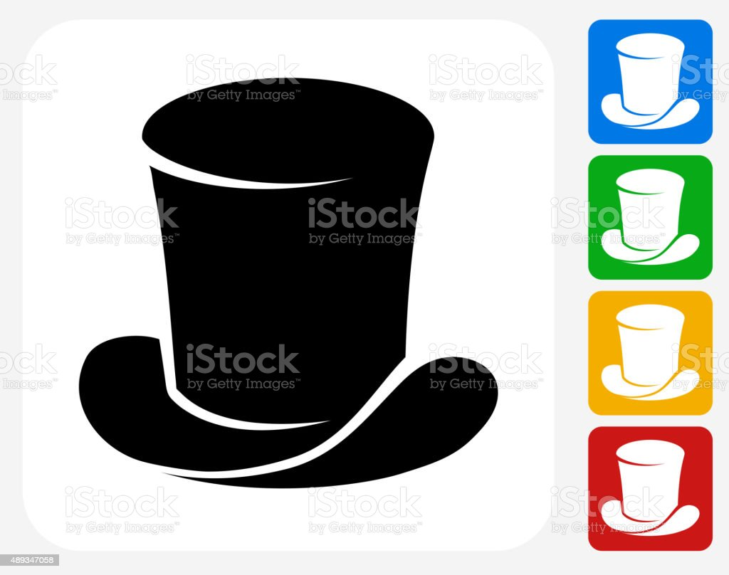 Magician's Hat Icon Flat Graphic Design vector art illustration