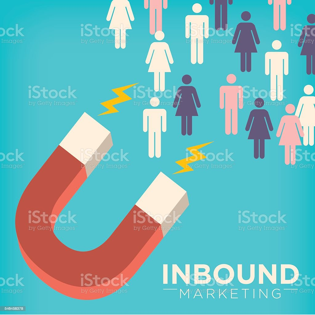 Magnet Inbound Marketing Graphic vector art illustration