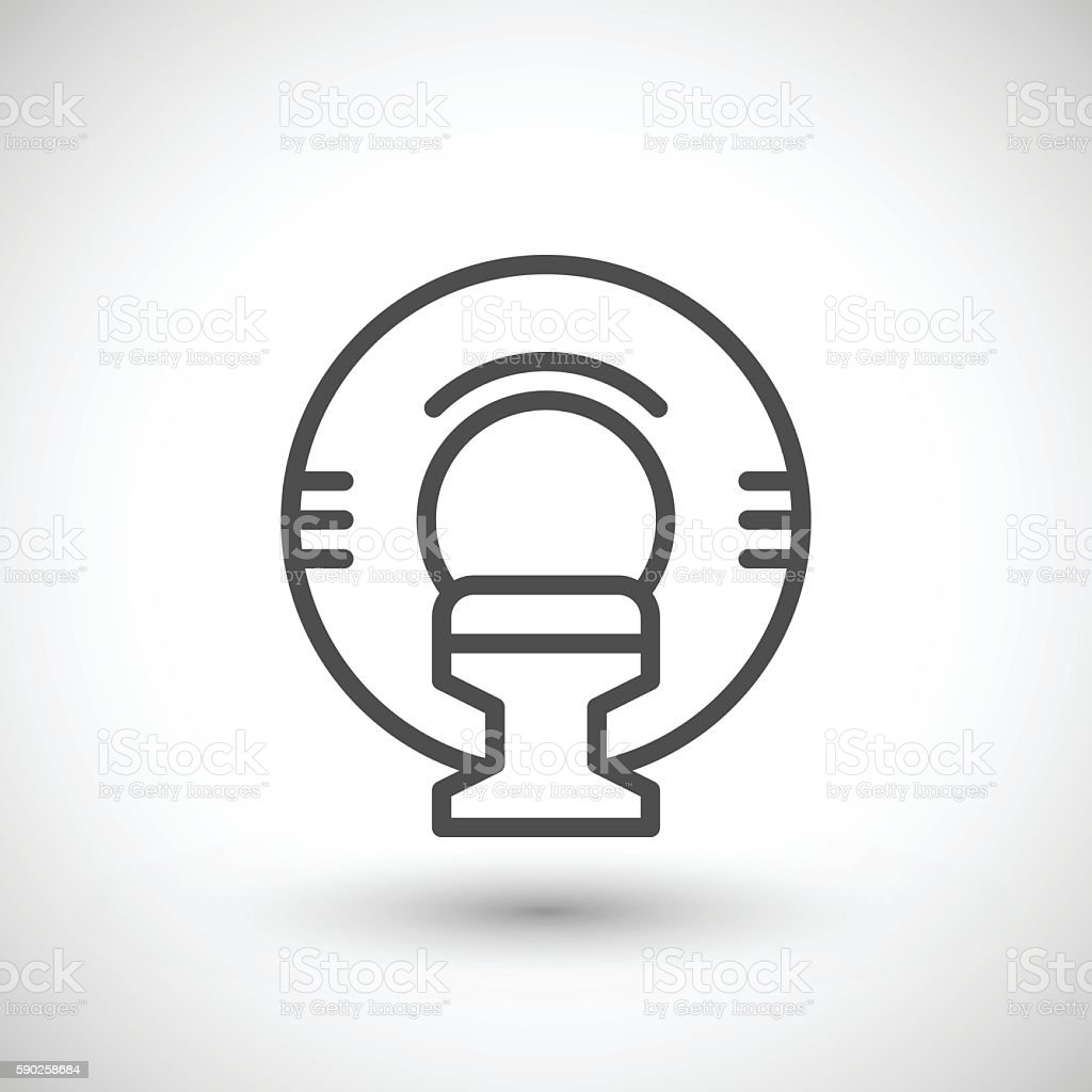 Magnetic resonance imaging line icon vector art illustration