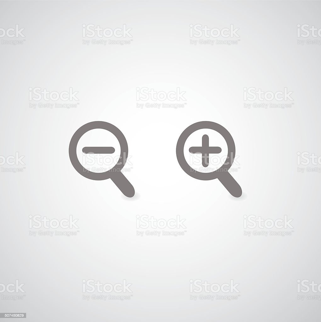 magnification symbol vector art illustration