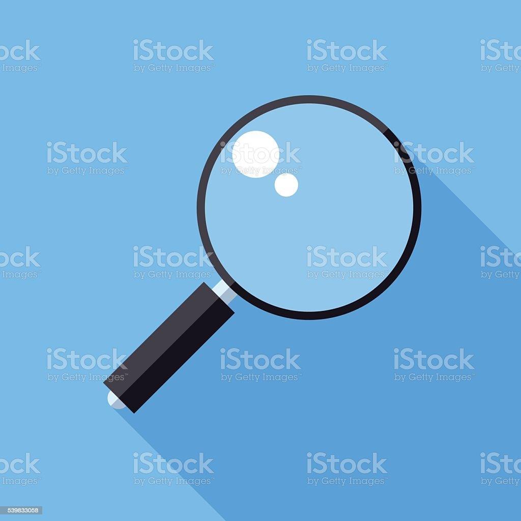 Magnifier icon vector art illustration