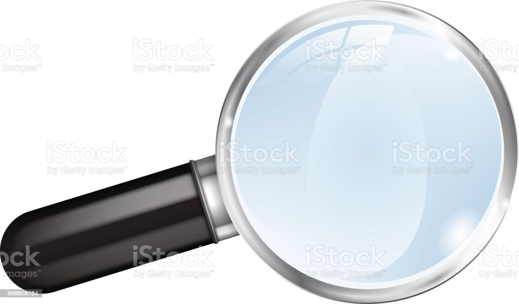Magnifier.  Magnifying glass. vector art illustration