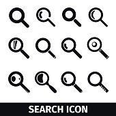 Magnifier Search icon set