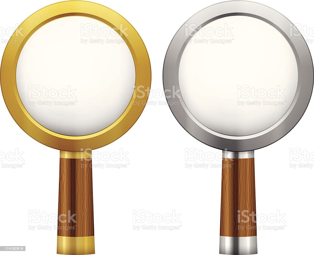 magnifier royalty-free stock vector art