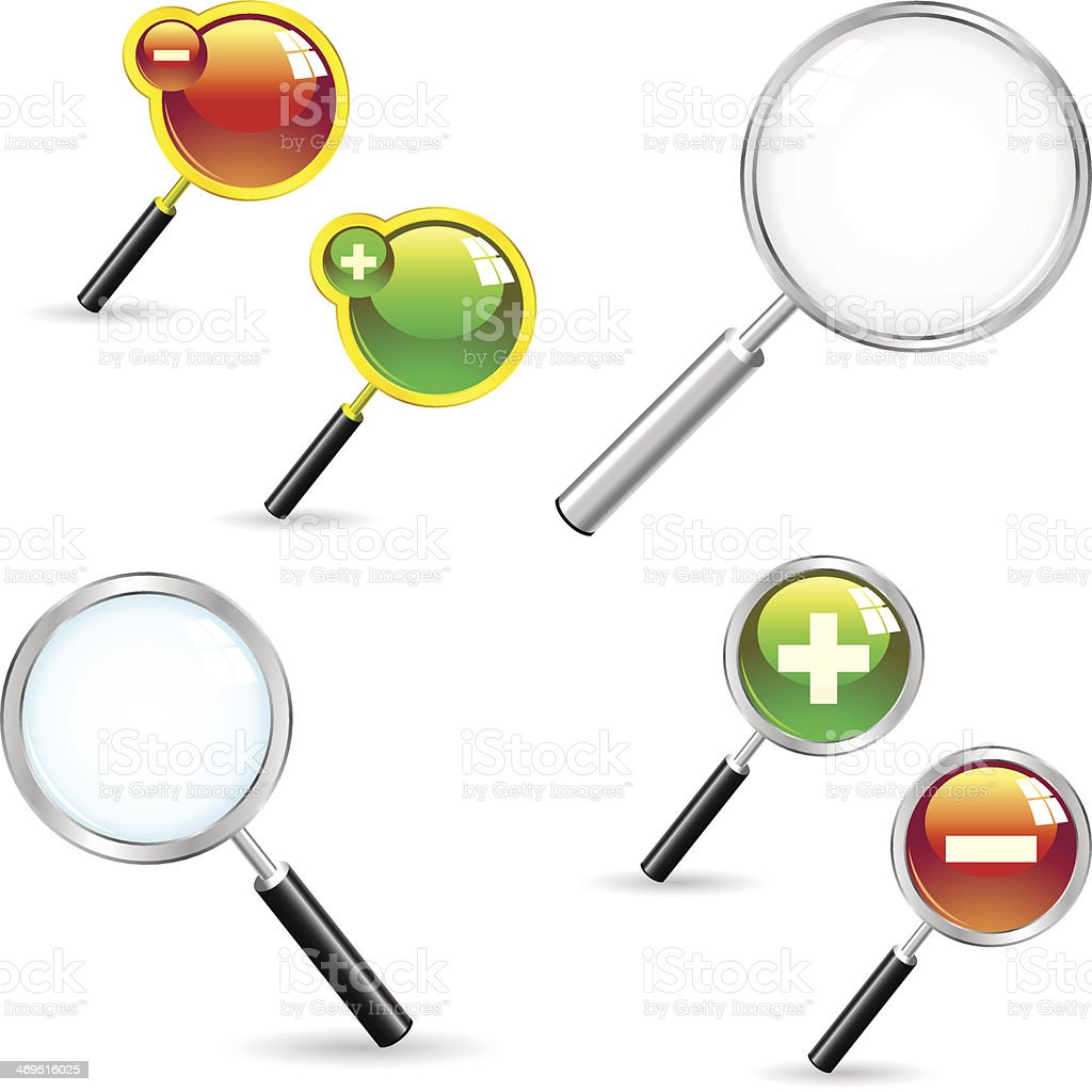 Magnifier. royalty-free stock vector art