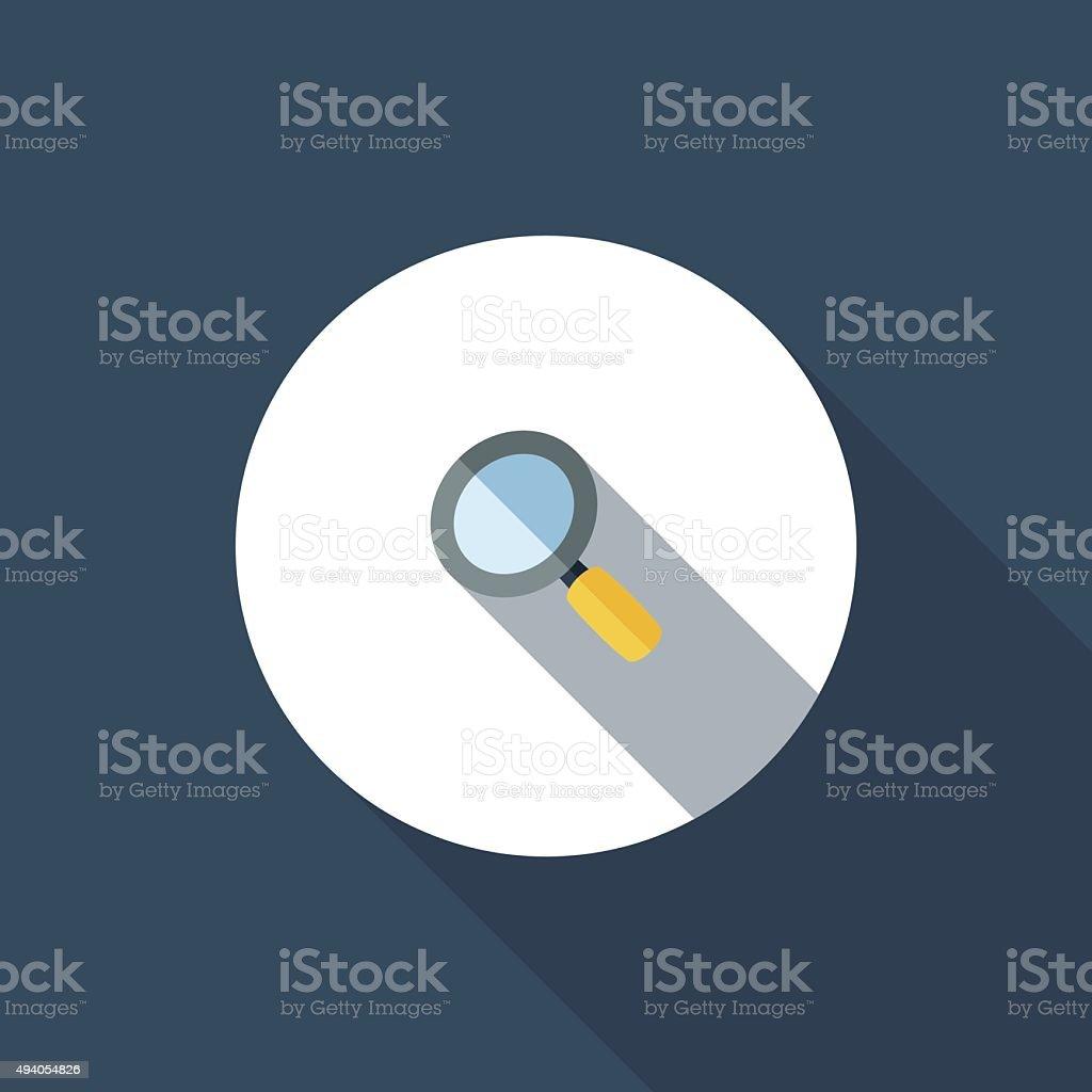 Magnifier vector art illustration