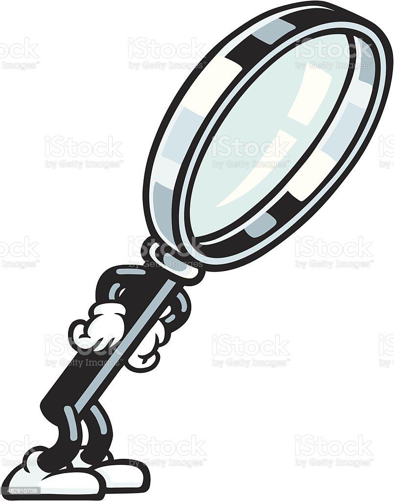 Magnifying Glass Character vector art illustration