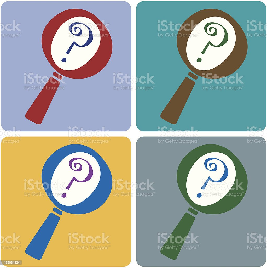 Pics photos clip art cartoon scientist with question mark stock - Magnifying Glass Coasters Vector Illustration Royalty Free Stock Vector Art