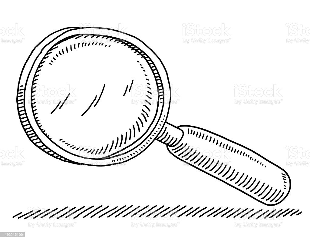 Magnifying Glass Drawing vector art illustration