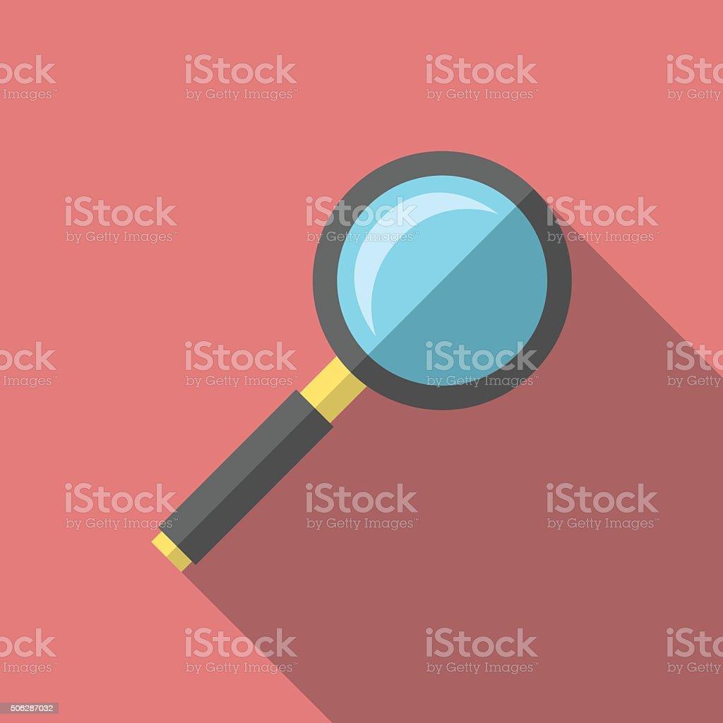 Magnifying glass, flat style vector art illustration
