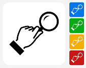 Magnifying Glass Icon Flat Graphic Design