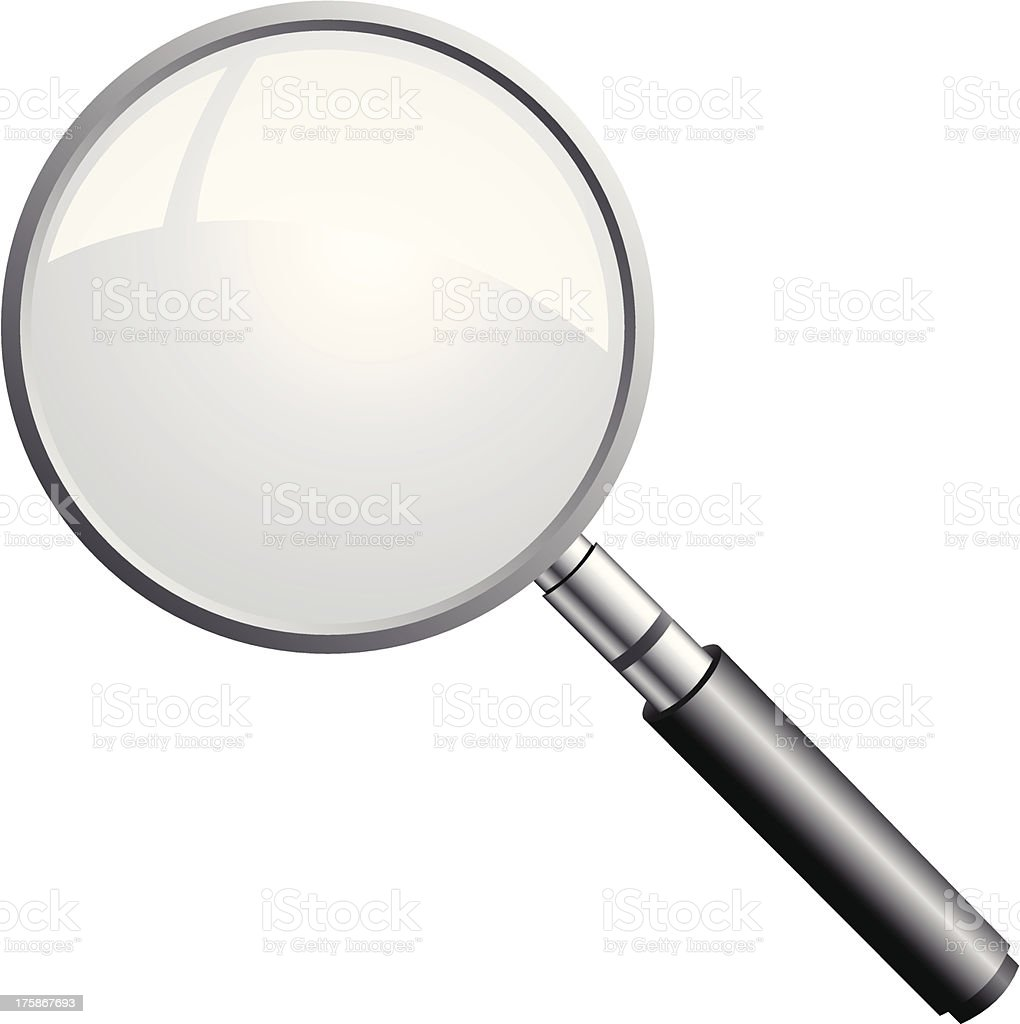 magnifying glass icon royalty-free stock vector art