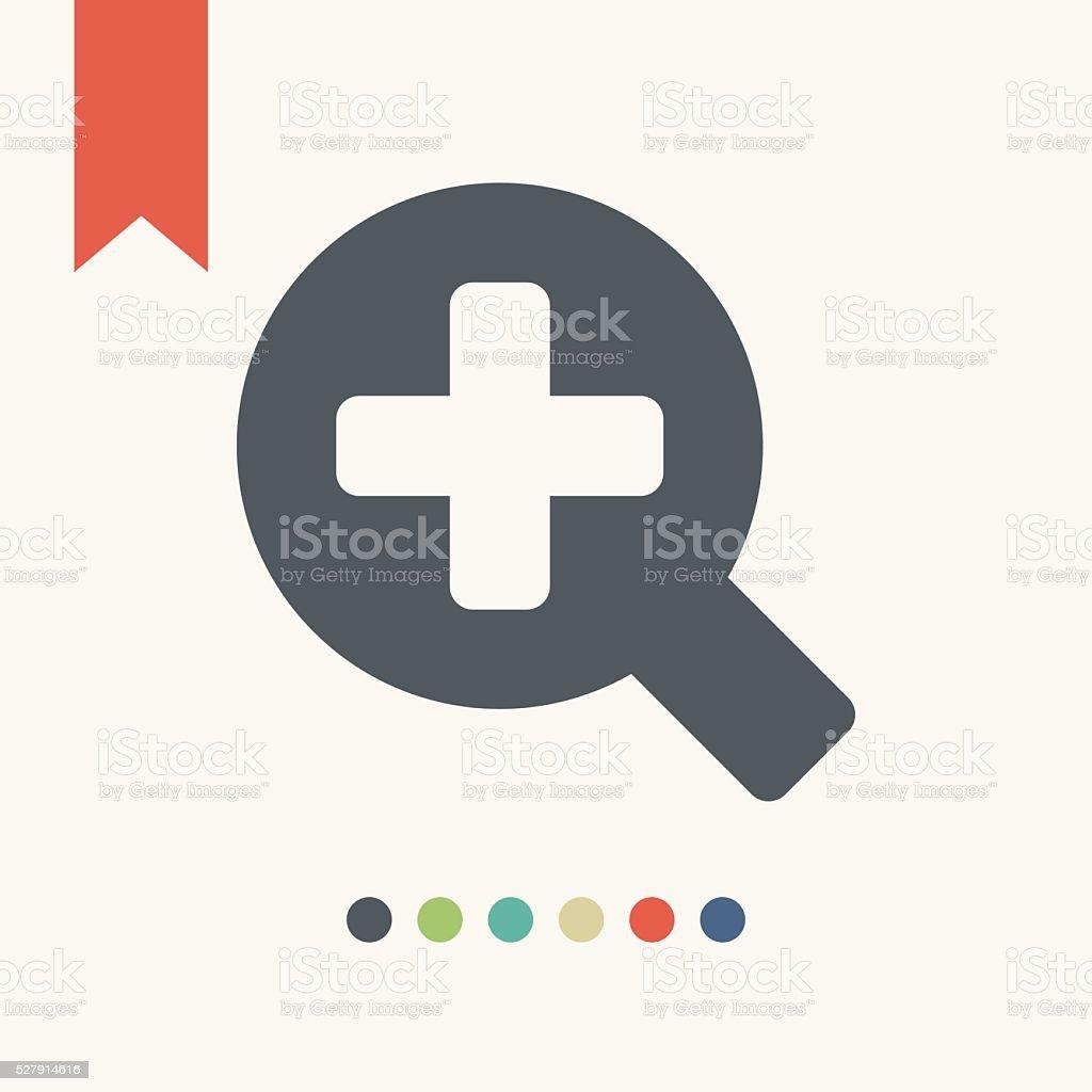 Magnifying glass icon vector art illustration