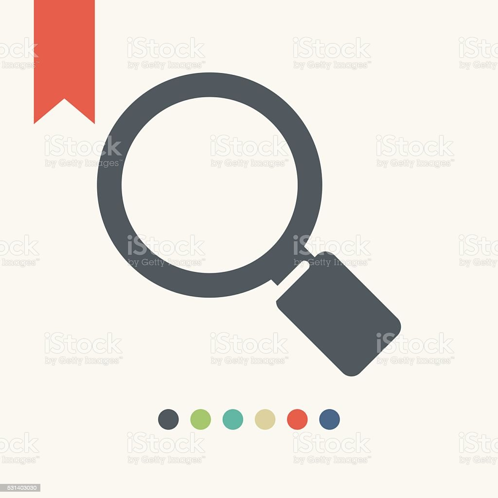 Magnifying glass icon vector art illustration