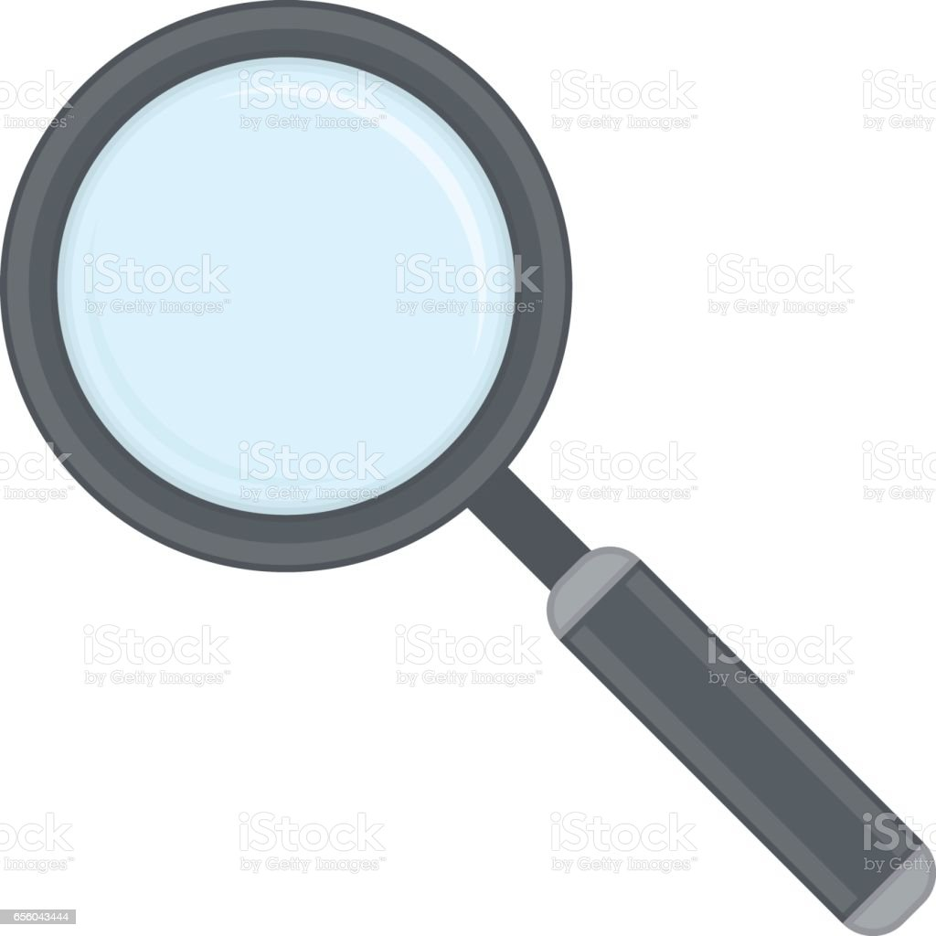 Magnifying glass icon. vector art illustration