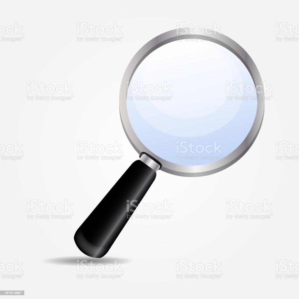 magnifying glass icon vector illustration royalty-free stock vector art