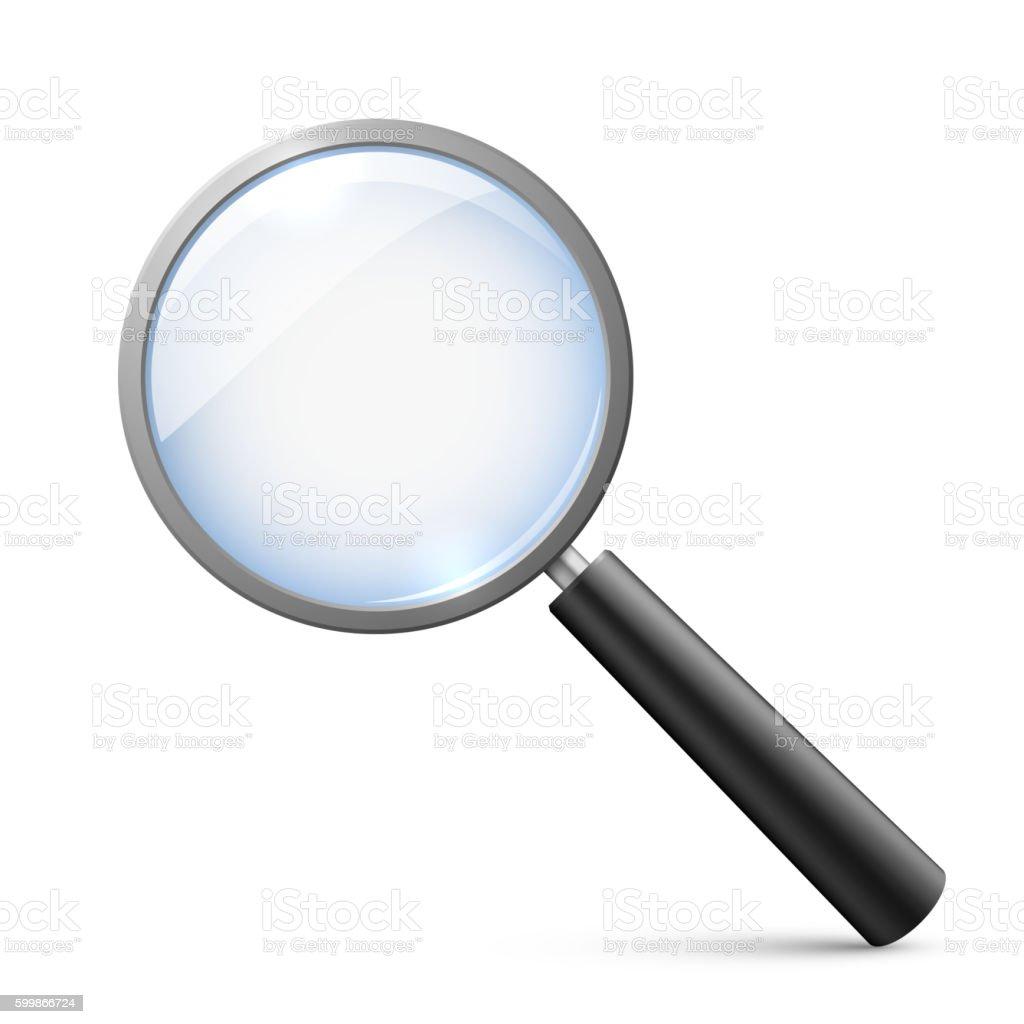 Magnifying glass isolated on white vector illustration vector art illustration