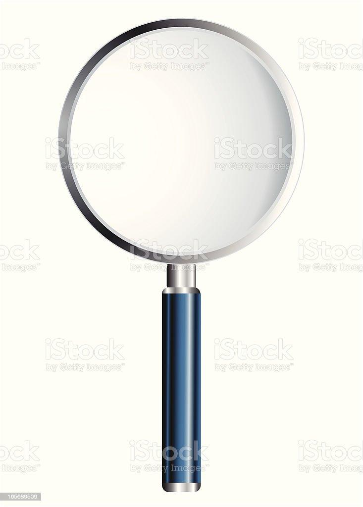Magnifying glass lens - VECTOR royalty-free stock vector art