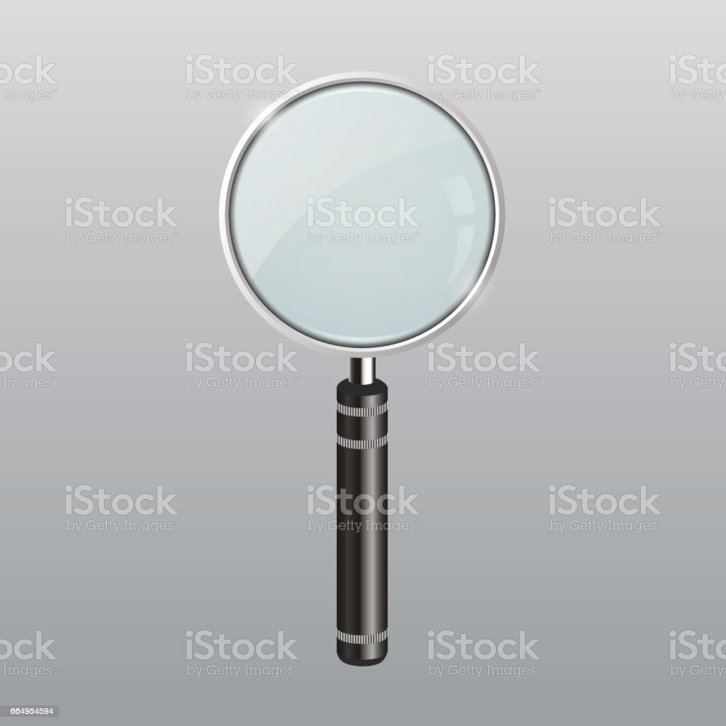 Magnifying glass photo-realistic vector illustration vector art illustration