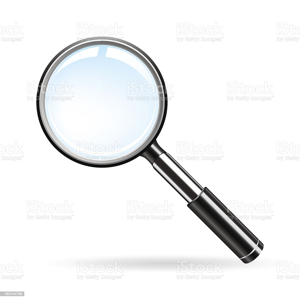 Magnifying glass scoping a blank space royalty-free stock vector art