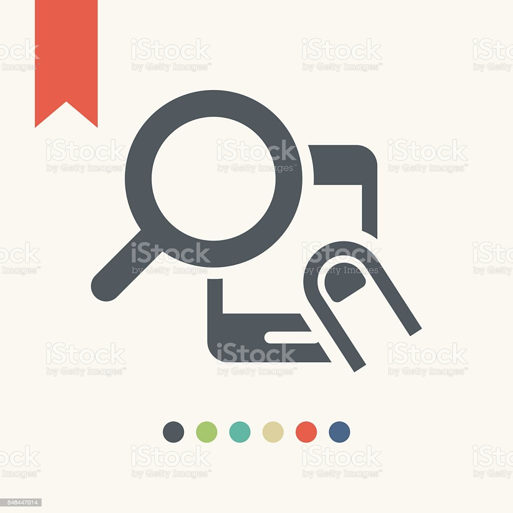 Magnifying glass search icon smart phone icon vector art illustration