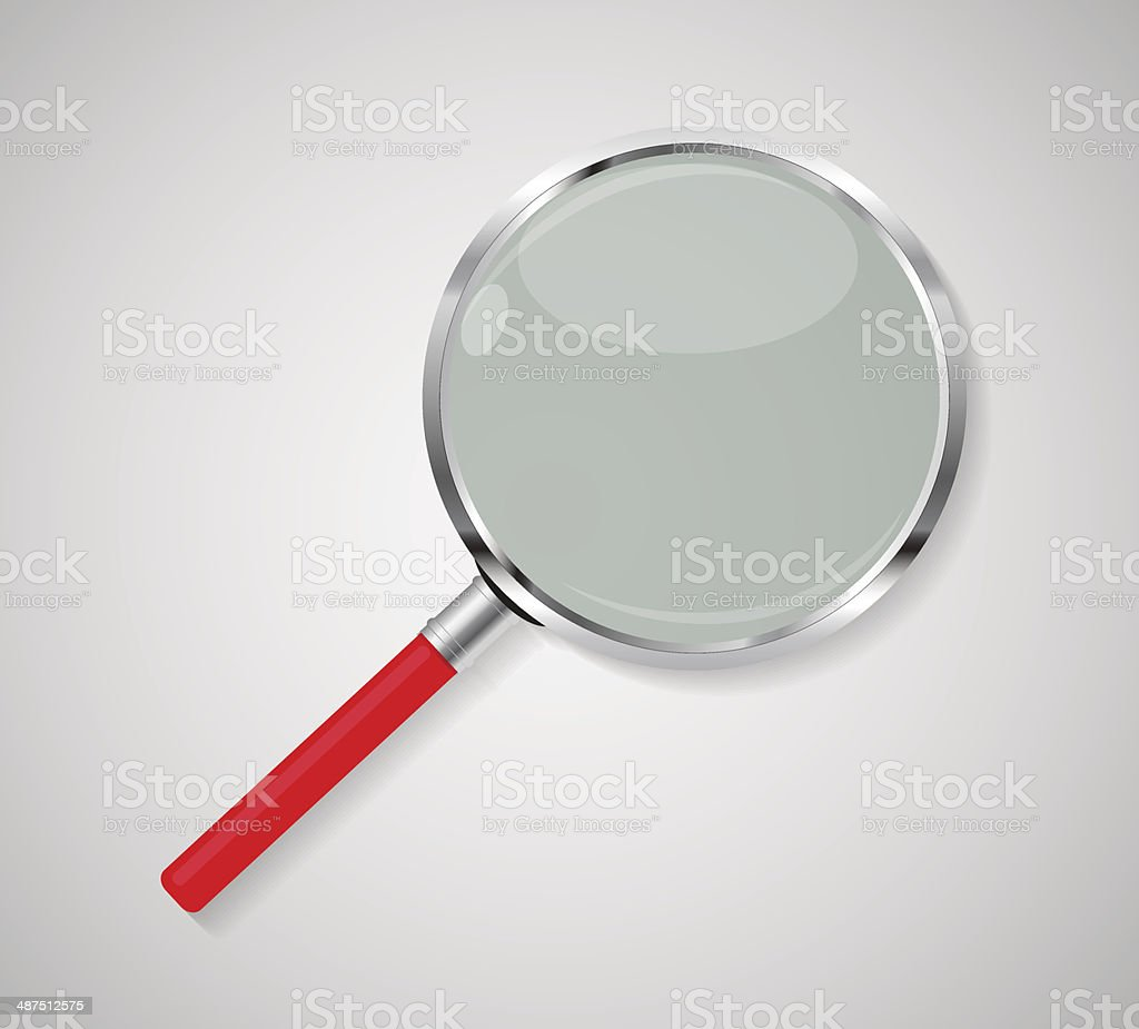 Magnifying Glass Search Icon Vector Illustration royalty-free stock vector art