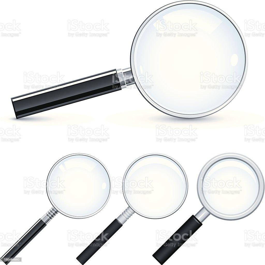 Magnifying glass vector art illustration