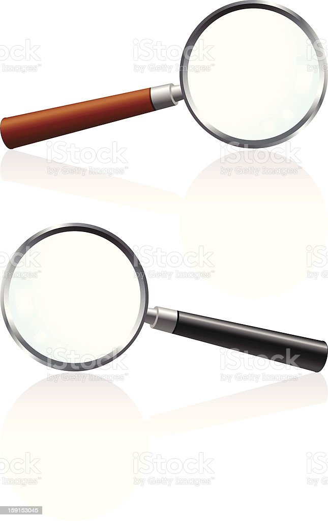 Magnifying glass (two versions) royalty-free stock vector art
