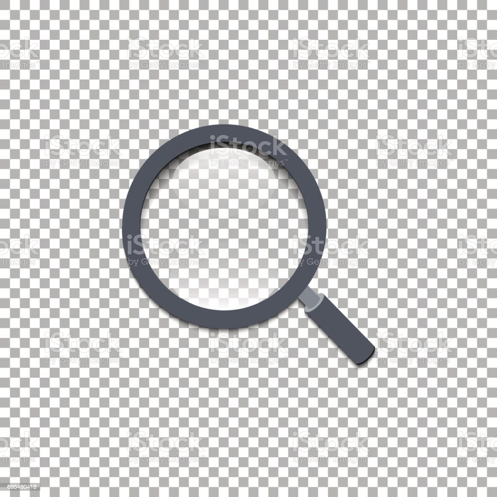 Magnifying Glass, Vector illustration, EPS 10, isoiated background vector art illustration