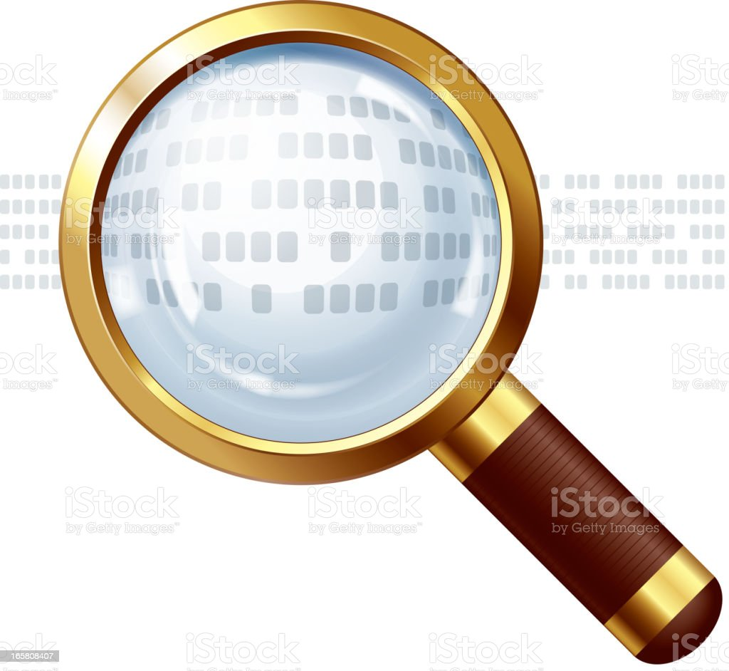 Magnifying glass with replaceable text royalty-free stock vector art