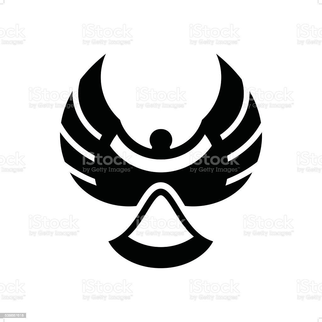 Magpie vector art illustration