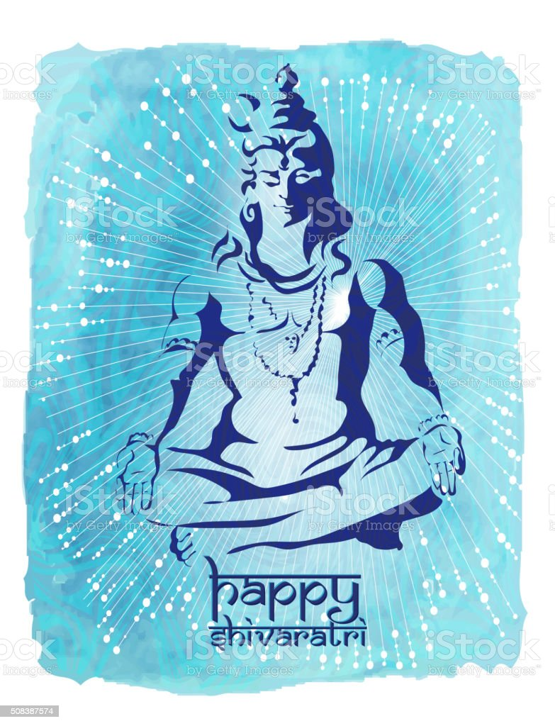 . Maha Shivaratri. 2 vector art illustration