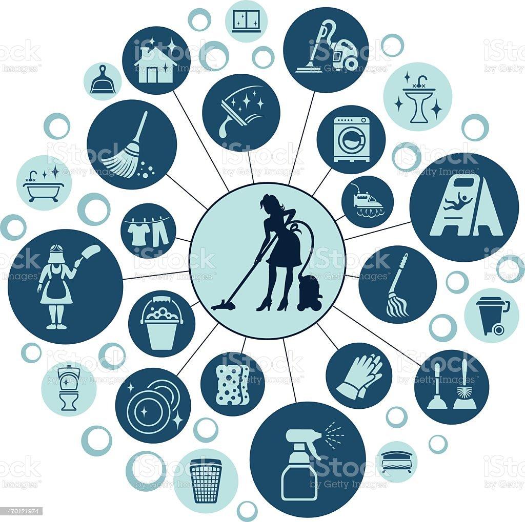 Maid vector art illustration