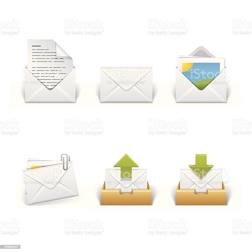 Mail and Communication Icon Set royalty-free stock vector art