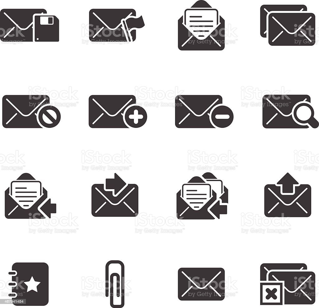Mail and Communication - Simple Icons vector art illustration