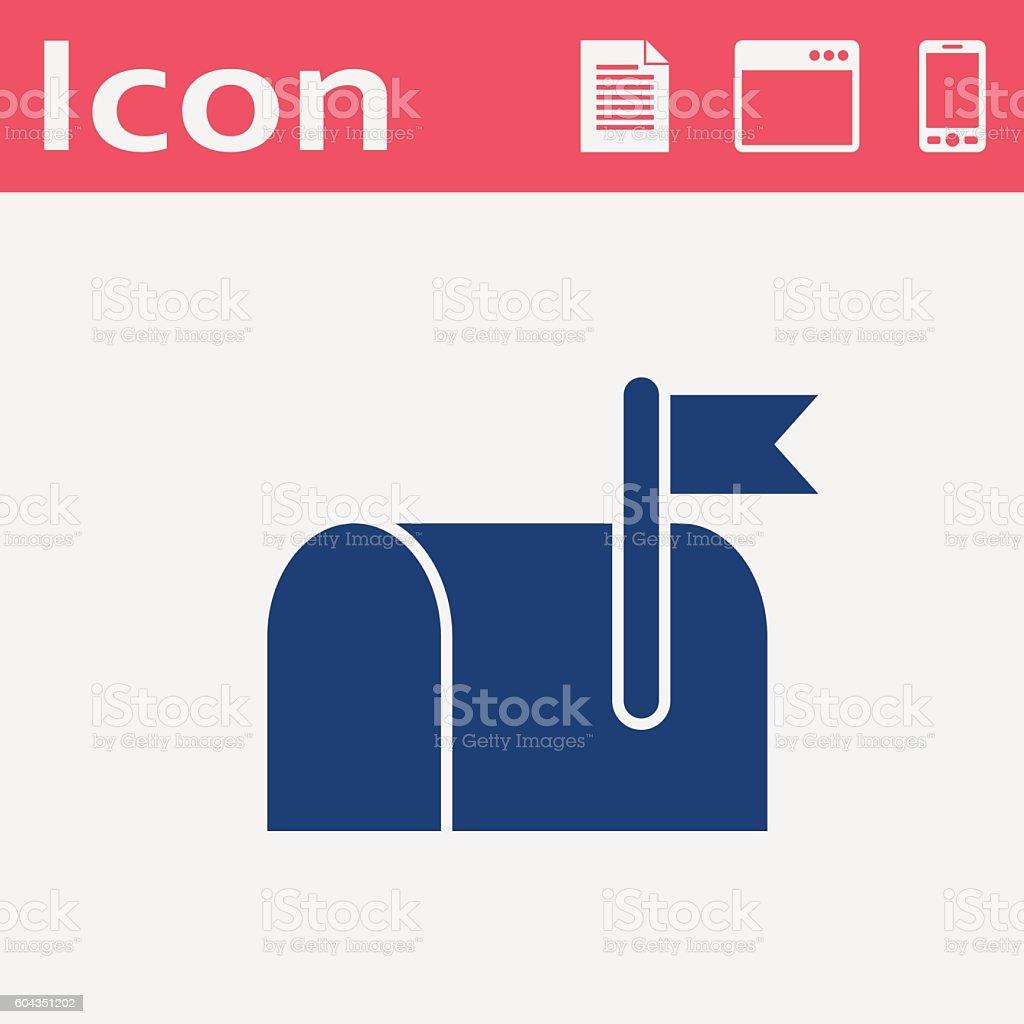 Mail box flat vector icon vector art illustration
