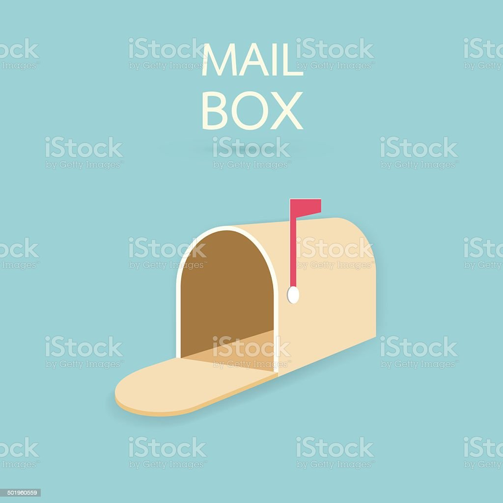 Mail box vector art illustration