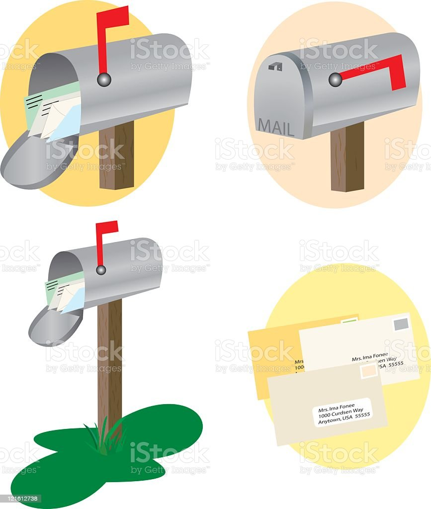 Mail Boxes Etc. royalty-free stock vector art