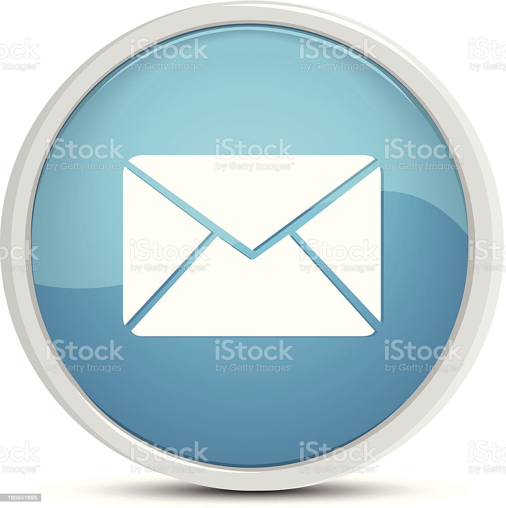 Mail Button royalty-free stock vector art