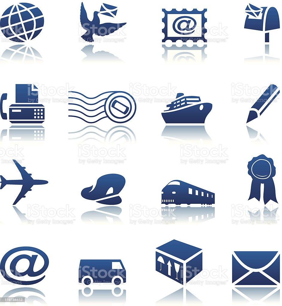 Courrier & Ensemble d'icônes de livraison stock vecteur libres de droits libre de droits