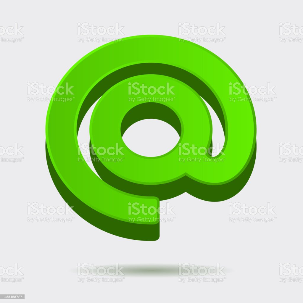 Mail Dog Abstract Symbol in 3D Style. Vector royalty-free stock vector art
